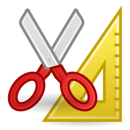Download free scissors try square accessory icon