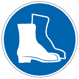 Download free blue pictogram protection foot icon