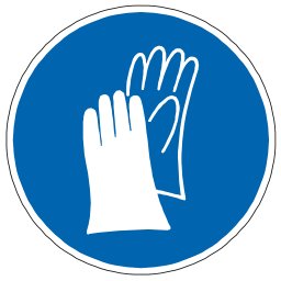 Download free blue pictogram protection hand icon