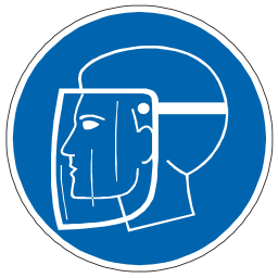 Download free blue pictogram protection face icon