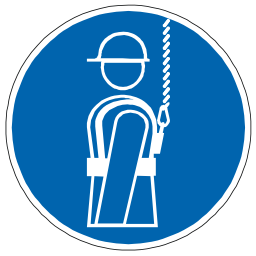 Download free blue pictogram protection fall icon
