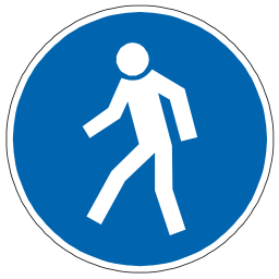 Download free blue pictogram passage pedestrian icon
