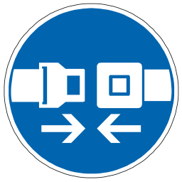 Download free blue pictogram protection belt security icon