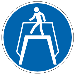 Download free blue pictogram protection pedestrian icon