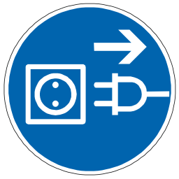 Download free blue pictogram protection plug electric icon