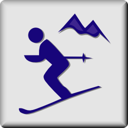 Download free sport mountain ski icon