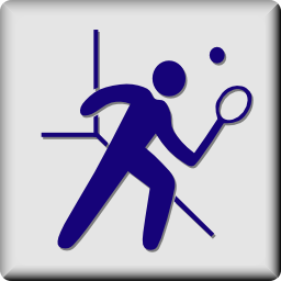 Download free sport squash racket ball icon