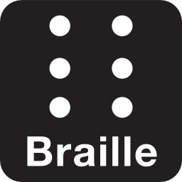 Download free eye blind braille icon