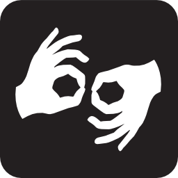 Download free hand language handicapped deaf sign icon