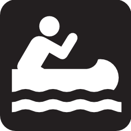 Download free sport leisure canoe kayak oar icon