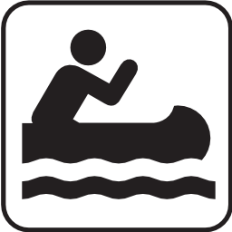 Download free water leisure canoe kayak oar icon