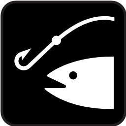 Download free fish fishing hook icon