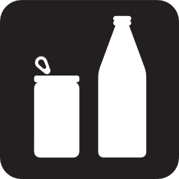 Download free glass bottle plastic spool icon
