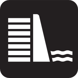 Download free water electricity dam lake icon