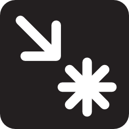 Download free arrow dot black white interest icon