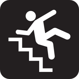 Download free fall staircase icon