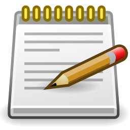 Download free pencil text editor pad notes icon