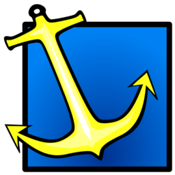 Download free yellow blue anchor square icon