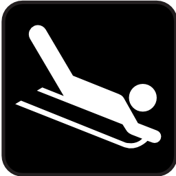 Download free drag sport leisure luge icon