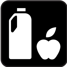 Download free apple food drink bottle icon