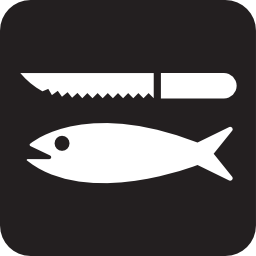 Download free fish knife fishing icon