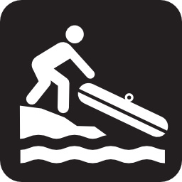 Download free leisure boat canoe beach icon