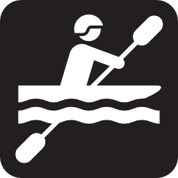 Download free water sport leisure kayak oar icon