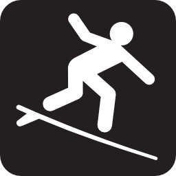 Download free water leisure board surf icon