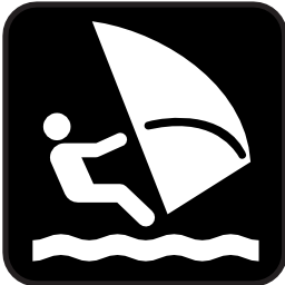 Download free water sport leisure sea board sailing lake icon