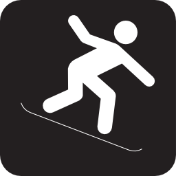Download free snow leisure winter snowboard icon