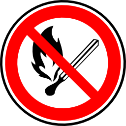 Download free red round prohibited flame icon