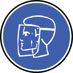 Download free helmet blue round protection icon