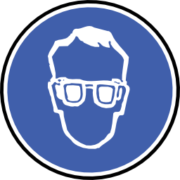 Download free blue round protection lunette icon