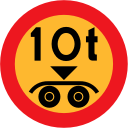 Download free round vehicle weight load icon