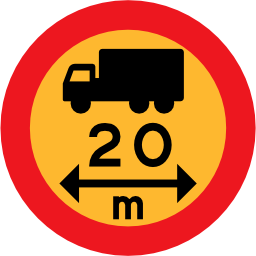 Download free round vehicle truck length icon