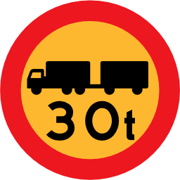 Download free round vehicle truck weight load icon