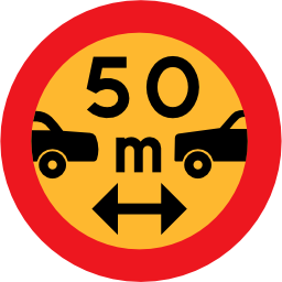 Download free round security vehicle distance car road icon