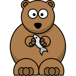 Download free fish animal bear icon