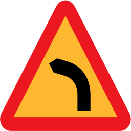 Download free triangle left turn icon