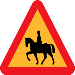 Download free horse triangle road rider icon