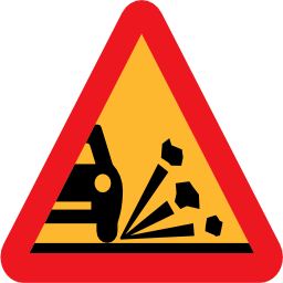 Download free triangle car road gravel icon