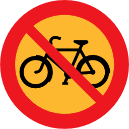 Download free round prohibited bike road icon