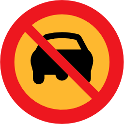 Download free round prohibited car road icon