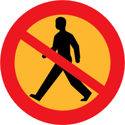 Download free round pedestrian prohibited icon