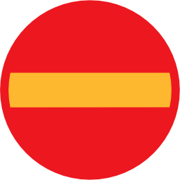 Download free round direction prohibited icon