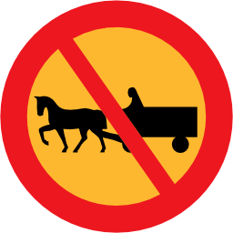 Download free round horse prohibited charette icon
