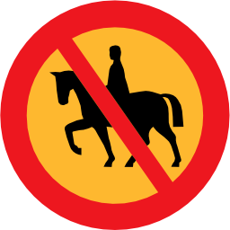 Download free round horse prohibited rider icon