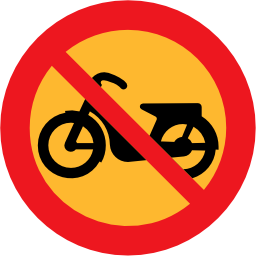 Download free round prohibited motorcycle icon
