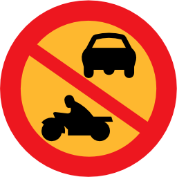 Download free round prohibited vehicle engine car motorcycle icon