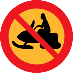 Download free round prohibited snowmobile icon